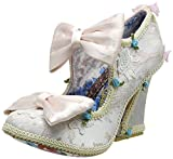 Irregular Choice Damen Earl Grey Mary Jane Halbschuhe, Off-White (Cream), 36 EU