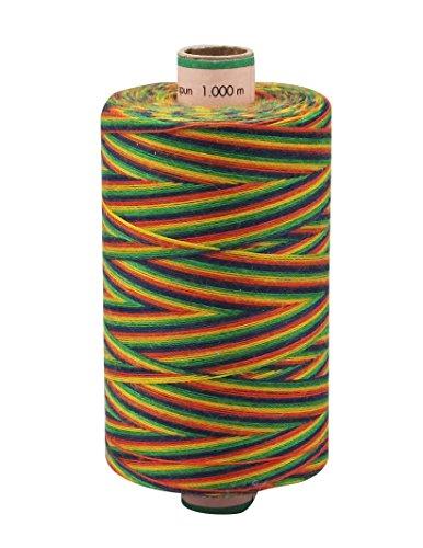 AMANN SABA® Multicolor-Garn mit Farbverlauf - 9988. multicolor / Regenbogen, Stärke 30, 300 Meter Rolle | Nähgarn Polyestergarn (Bekleidung Saba)