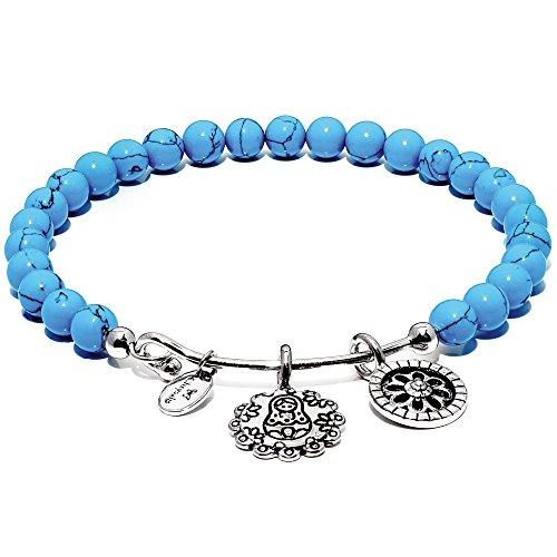 Chrysalis CRBH0008TU Damen Armreif Guardian Collection Matroschka Messing silber blau