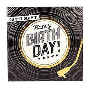 Depesche 8211.039Tarjeta de felicitación Glamour con Ornamento y Purpurina, cumpleaños