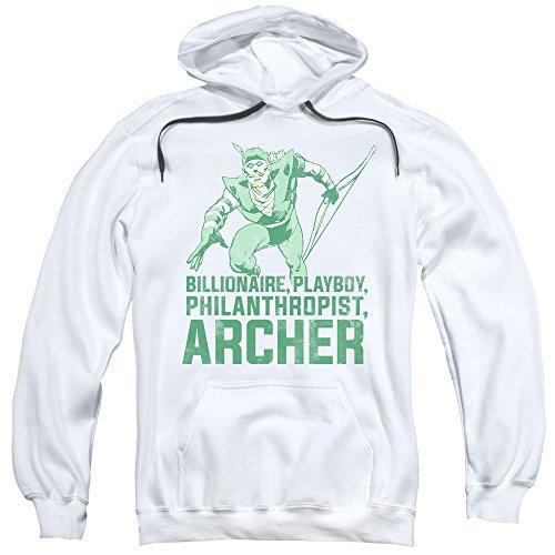 Dc-Archer-Felpa con cappuccio da uomo White