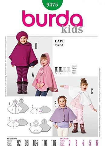 patron-de-couture-burda-childrens-9475-pelerines-2-6-ans