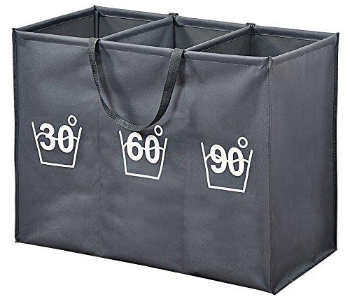 Kesper 89170 - Organizador para ropa sucia, 75 x 60 x 35 cm, color gris oscuro