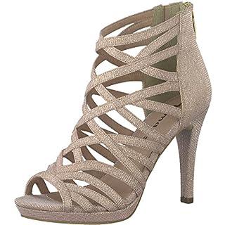 Tamaris 1-1-28014-20 Damen Sandale, Sandalette, Sommerschuhe für Die Modebewusste Frau Rosa (Rose Glam), EU 38