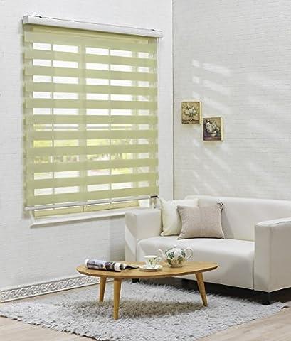 Store à découper Taille maximum de 240cm de large par 240cm de long, polyester & polyester mélangé, 14.light_green, W140 x H120 (CM)