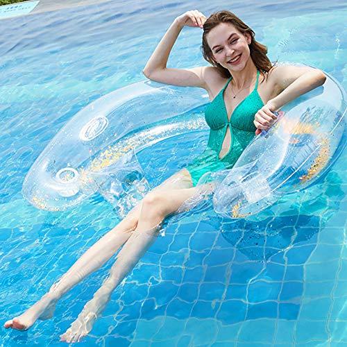 LNLN Aufblasbare Schwimmende Reihe Schwimmenden Stuhl Schwimmendes Bett Schwimmbad Aufblasbare Erwachsene Kinder Wasser Spielzeug Schwimmenden Strand Party Sommer Pool Stuhl,goldsequins