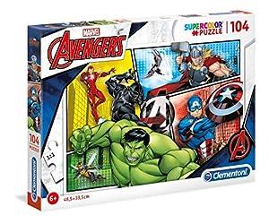 Clementoni Supercolor Puzzle-The avengers-104Unidades, Multicolor, 27284