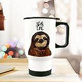 ilka parey wandtattoo-welt Thermobecher Thermotasse Thermosflasche Becher Tasse mit Faultier und Spruch Sloth Life tb063