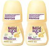 Le Petit Marseillais Déodorant Extra Doux 24 h Lait Vanille Bille 50 ml - Lot de 2