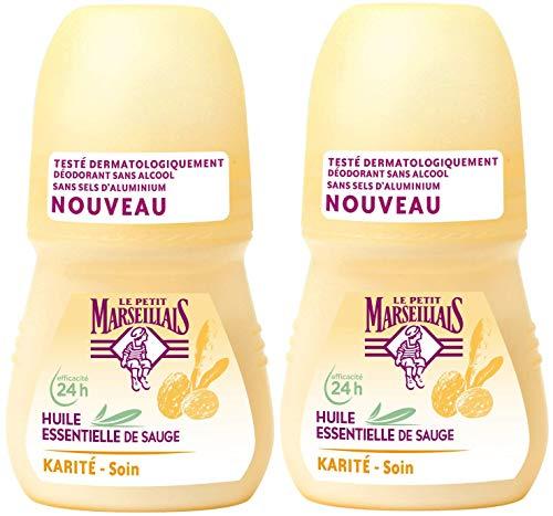 Le Petit Marseillais Déodorant Bille 24h Sauge et Karité 50 ml - Lot de 2