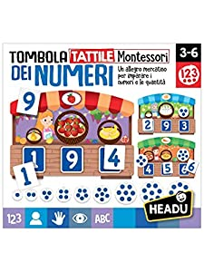 Headu it20249 Bingo táctil Montessori de los números