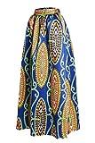 Afibi Frauen Afrikanischer Gedruckter Beiläufiger Maxi Rock Flared Rock Multisize EIN Linie Rock (M, Muster 1)