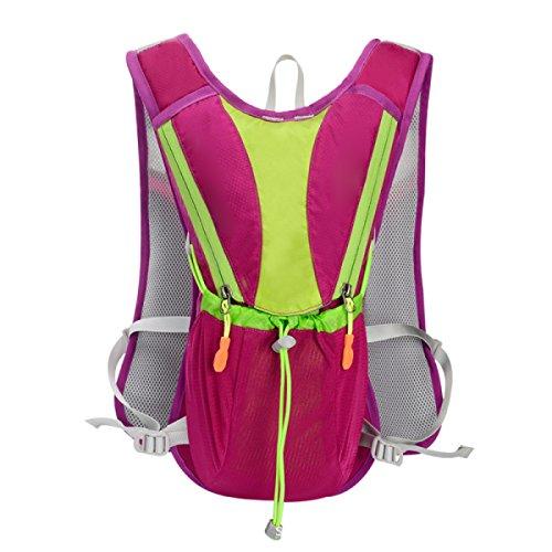 10L Hydration Pack Wasserdichter Cyclng Rucksack Und Rucksack Outdoor Wasser Reservoir Tasche,Orange RoseRed