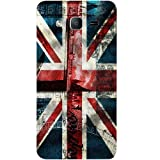 Casotec London Flag wallpaper Design Hard Back Case Cover for Samsung Galaxy On7
