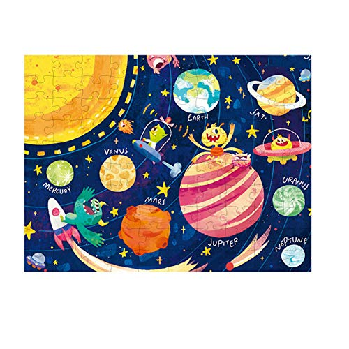TrifyCore Space Theme Puzzles leuchten in der Dunkelheit leuchtende Puzzle Educational Lernen Spielzeug für Kleinkinder Kinder Multicolor 1Set (Dunkelheit Kinder Der In Leuchten)