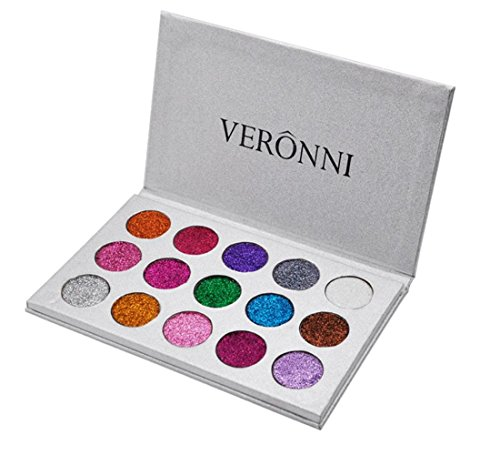 LONUPAZZ 15 Couleurs Glitter Palette de Fard à Paupière Waterproof Durable Matte Shimmer
