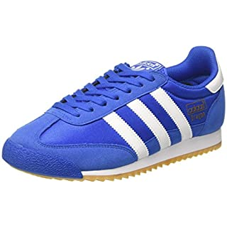 adidas Originals Men's Dragon OG Low-Top Sneakers, (Blue/Footwear White/Gum), 12 UK 47 1/3 EU