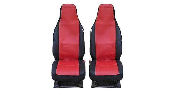 Sitzbezüge Schonbezüge Kunstleder rot  schwarz neu für Peugeot 107