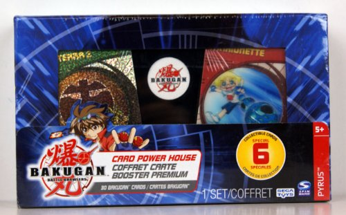 Bakugan - Battle Brawlers - Card Power House - Pyrus - 30 Bakugan Cards - 6 Special Collectible Cards