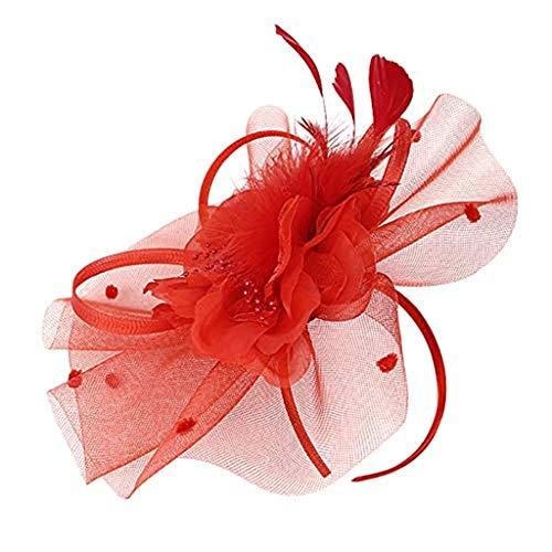 Beonzale Faszinator Handgemachte Frauen Haarspange Feder Hochzeit Casual Fascinator Kopfschmuck Feder Haarschmuck Cocktail Hut (Bemalen Für Gesicht Halloween-schädel)