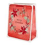 Sacchetto regalo di Natale - Buste medie in 1 design con etichette abbinate