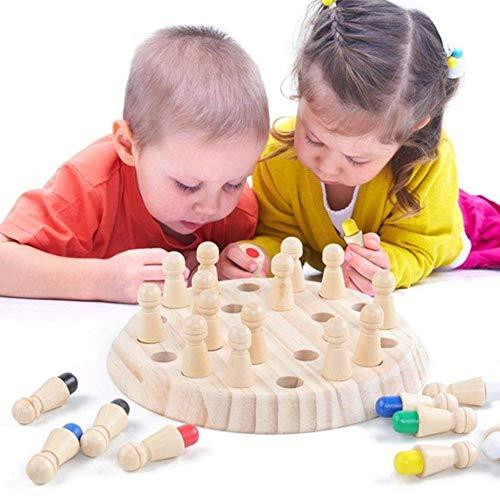 Holz-Kinder frühe Bildung Gedächtnis Eltern-Kind Interaktive Lernspielzeug Schach Kindergarten Schulung Fokus Speicher