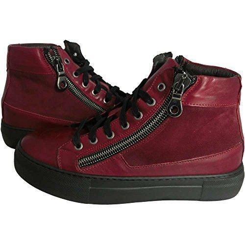 Scarpe Uomo Exton 251 0725 - Sneaker havana bordeaux camoscio barolo made in italy (43)