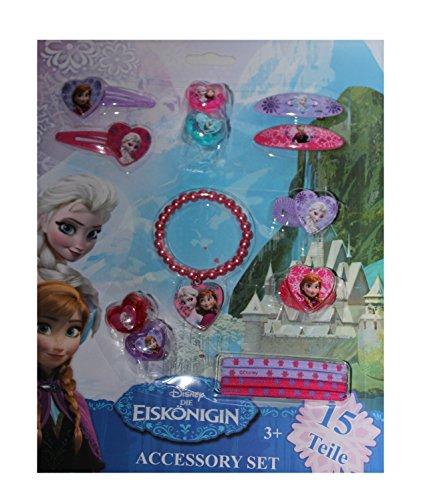 Elsa - Anna - Die Eiskönigin - Völlig Unverfroren - Disney Frozen -Accessoire Set - Armband - Verkleidungsaccessoires Prinzessin Wer will sich als Kind nicht zur Eiskönigin verkleiden? Die beliebte (Und Anna Elsa Sich Verkleiden)