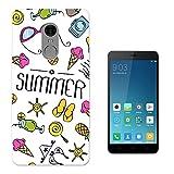 002223 - Summer Bikini Sunglasses Flip Flops Ice cream Sun Beach Collage Design Xiaomi Redmi Note 4 Fashion Trend Protecteur Coque Gel Rubber Silicone protection Case Coque