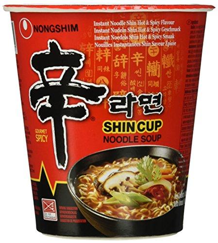 Nong Shim Instant Nudeln Shin Cup, 12er Pack (12 x 68 g) Hot-wasser Zu Den Mahlzeiten