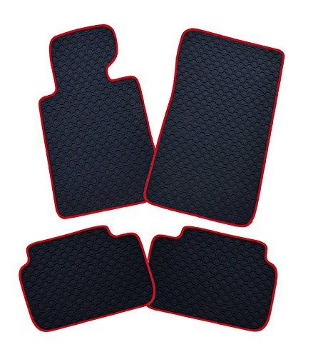 Preisvergleich Produktbild Gummimatten mit Rand rot passend für Isuzu D-Max 2trg. 01.07.2012- X Space Cab 1 1/2 Kabiner