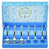 Asahi Peter Rabbit Teelöffel & kuchengabel-Set (3 Löffel und 3 Gabeln/Insgesamt 6 Stück) Silber von Japan CU0142