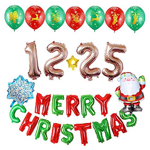 JLCP Fröhliche Weihnachts-Ballon-Combo Aluminium-Film Pendant Ballons Festliche Feier-Party Liefert Dekoration Requisiten Indoor ()