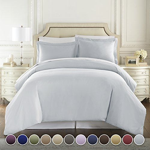 C&H 1500 Ägyptische Fadendichte Qualität Bettdeckenbezug Set Weich Luxus - Alle Größen/Farben Rey Blau (Artic Ice Blue) (Ägyptische Baumwolle Bett In Einem Beutel)