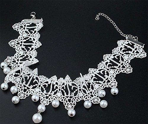 Preisvergleich Produktbild XX Weiße Spitze Handgemachte Halskette , White,white