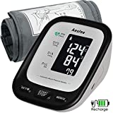 Upper Arm Blood Pressure Monitor USB Rechargeable, Accurate Automatic BP Machine for Home