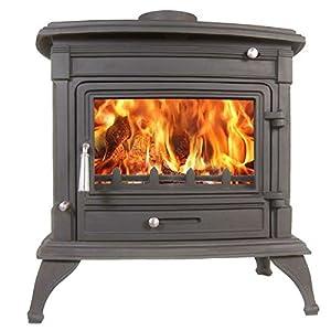 Matterhorn 14kw Multifuel Wood Burning Stove Tradional Cast Iron Woodburner F...