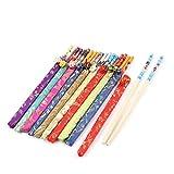 sourcingmap 20 Stk Sortiert Farbe chinesischen Stil Bambus Stäbchen mit Polyester Abdeckung