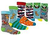 Wowarat Kinder Jungen Mädchen Socken Strümpfe Lustige Dino 3 er Set Größe 23-26