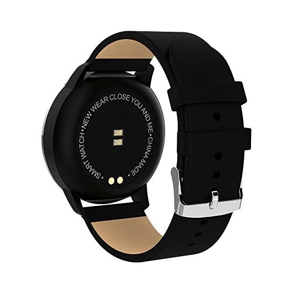 Pulsera deportiva Smart Smartwatches,rastreador de actividad física,Podómetro/Detección de frecuencia cardíaca/Anti-perdida/Recordatorio de tareas/Mensaje telefónico,Smartwatch mujeres hombres,Gold 2