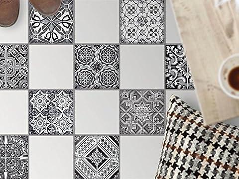 Feuille amovible décorative carreaux sol | Mosaïque revêtement de sol