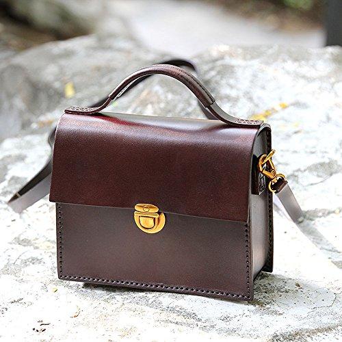 Nouveau cuir vintage fait main petit sac à main bandoulière sac en bandoulière sac Maroon