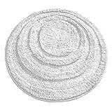 mDesign pflegeleichter Badteppich - Mikrofaser Badläufer für Bad oder Küche - schnelltrocknender Duschvorleger - Farbe: Weiß - Langlebiges Badzubehör