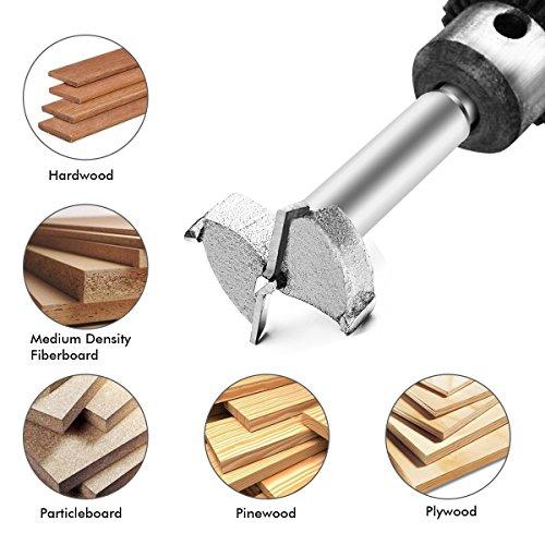 in acciaio al tungsteno per lavorazione del legno Punta per trapano da 35mm compensato plastica