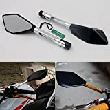 SUNDELY® Hi-Q Silver CNC Sport Bike Rearview Mirrors Motorbike Rear View For Suzuki
