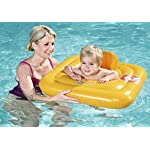 Bestway Baby Swim Safe Seat (Step A) Learn to Swim Square Inflatable,Yellow, 0-12 Months