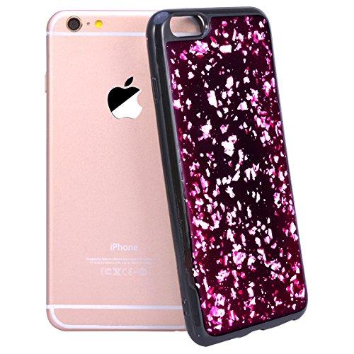 WE LOVE CASE iPhone 6 Plus / 6s Plus Hülle Glitzern Schwarz Rose rot iPhone 6 Plus / 6s Plus Hülle Silikon Weich Handyhülle Tasche für Mädchen Elegant Backcover , Soft TPU Flexibel Case Handycover Sto rose Red