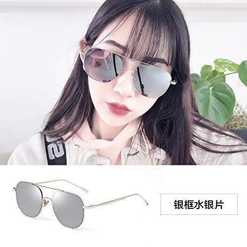 Sonnenbrillen Extra Große Polarisierte Sonnenbrille Frau Lady Sonnenbrille 100% Uv400 Schutz, Anti-ultraviolette Straße Pat-gläser Silberner Mercury-Tablets