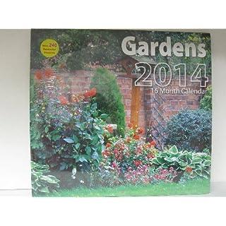 2014 Gardens Calendar (12 x 12) Wall Calendar with 240 Reminder Stickers by Athena Teamwork (English Manual)