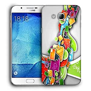 Snoogg Colorful Pattern Design Printed Protective Phone Back Case Cover For Samsung Galaxy Note 5